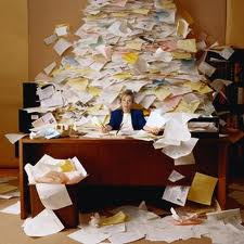Worker swamped with paperwork